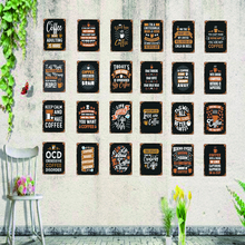 Coffee sign Shabby Chic Vintage Style Kitchen Sign Retro Bar Cafe Shop Home Metal Wall Art  Decor 30X20CM SA-4717