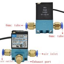 Mac 3 portas valvula solenoide de controle de impulso, eletronico/ddba/ddf 24vdc com silenciador, 1 peça de bronze