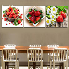 5D,diy,Diamond Painting still life,Red Strawberry Fruit,Mosaic Cross Stitch,Full Square Volledig,Diamond Embroidery 3 pcs set(China)
