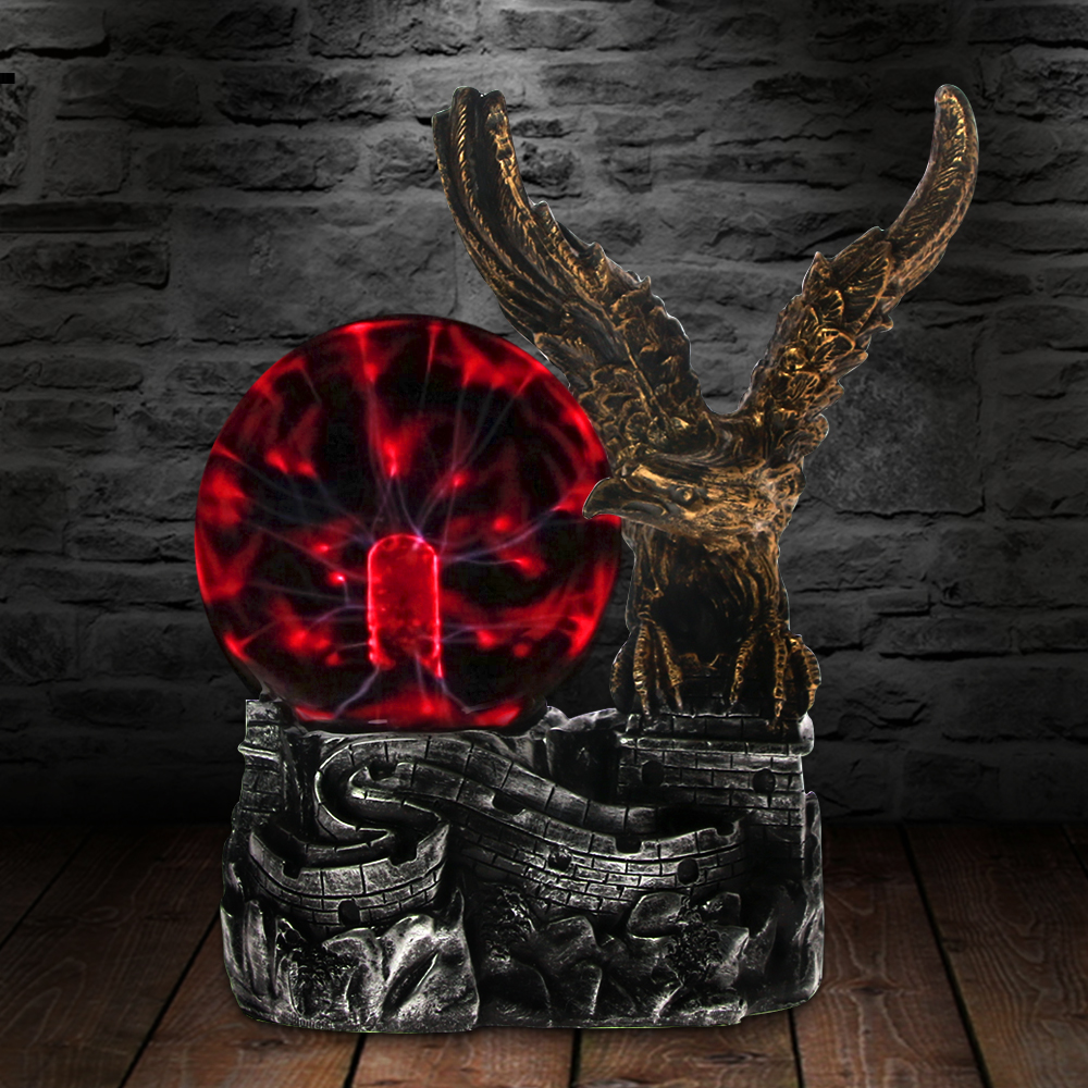 Bald Eagle Motion Plasma Ball Desk Lamp Decorative Lighting Touch Response Eagle Ornaments Night Light Figurine