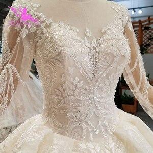 Image 3 - AIJINGYU แม่เจ้าสาว Weddimg ชุด Drees อิตาลีสีขาว Lace Plus ขนาดแขนยาว Imperial ชุดแต่งงาน ชุด