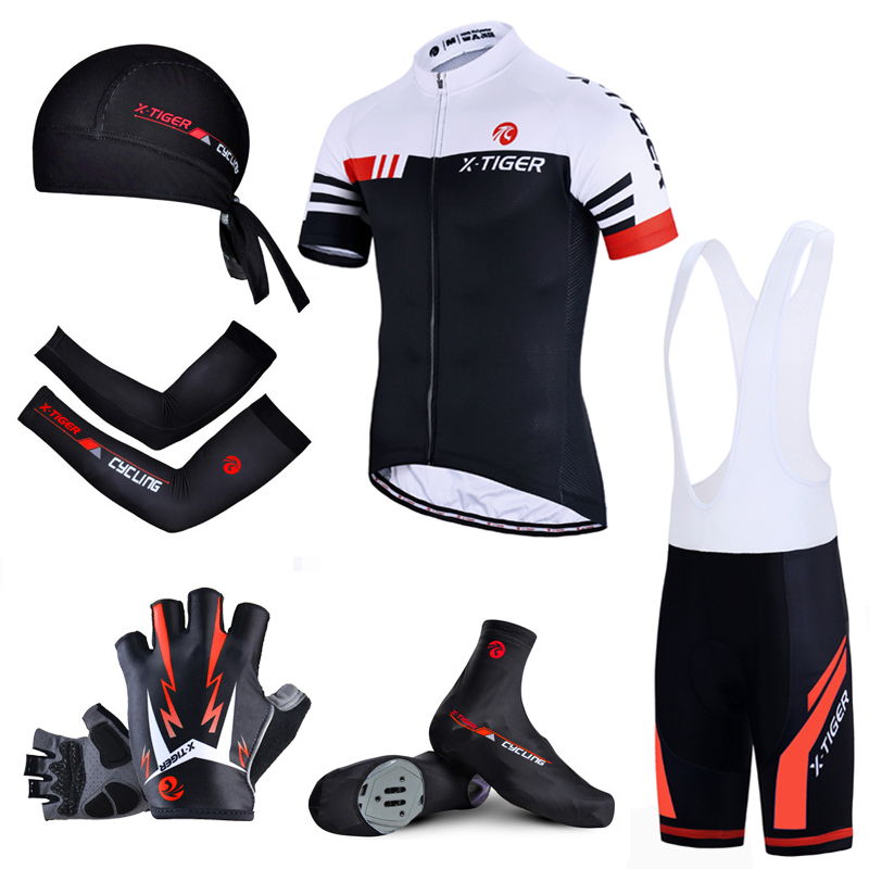 X-TIGER Cycling Jersey Set Summer Bicycle Breathable Clothing Men Short Sleeve Shirt Bike Shorts Gel Pad Maillot Ropa Ciclismo