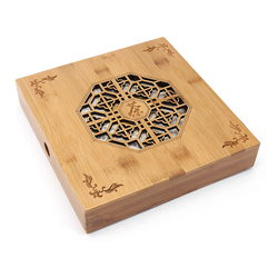 Wooden Puer Tea Boxes Kung Fu Tea Tray Storage Box Square Puerh Tea Cake Package With Engraving Gifts Case Handmade Containers
