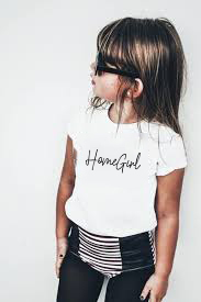 Toddler Tee Shirt Short-Sleeve Graphic Slogan Funny Homegirl Baby Kids Fashion Children
