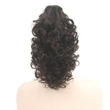 Soowee 4 цвета Короткие вьющиеся регулируемой кулиской хвост парик парики синтетические волосы конский хвост зажим в волос