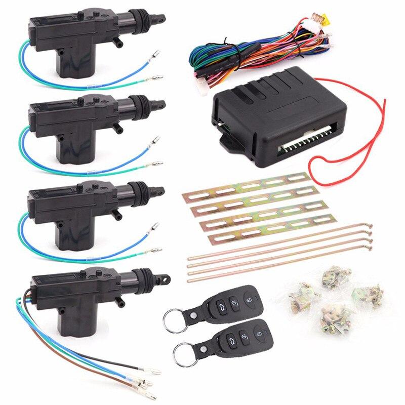 Système d'alarme voiture Kit Central à distance serrure de porte verrouillage véhicule universel système d'entrée sans clé nouveau avec feux de Direction