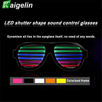 Güneşlikler Şekli Deklanşör Parlayan Light Up Gözlük LED RGB Renkli Noel Malzemeleri Parti Sahne Tatil Hediye Yanıp Gözlük