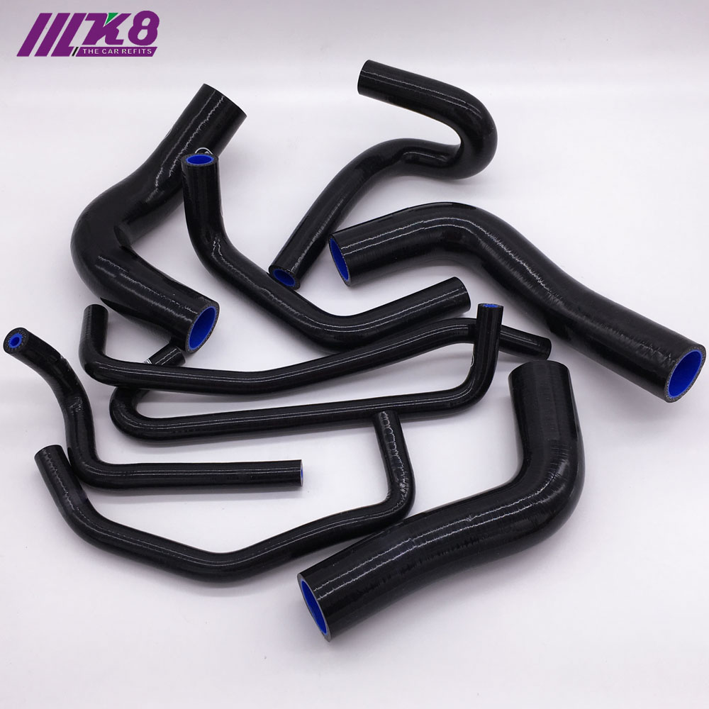 For Toyota Hilux RN105 106 111 130 22R 1989-1997 Silicone Radiator Hose Green