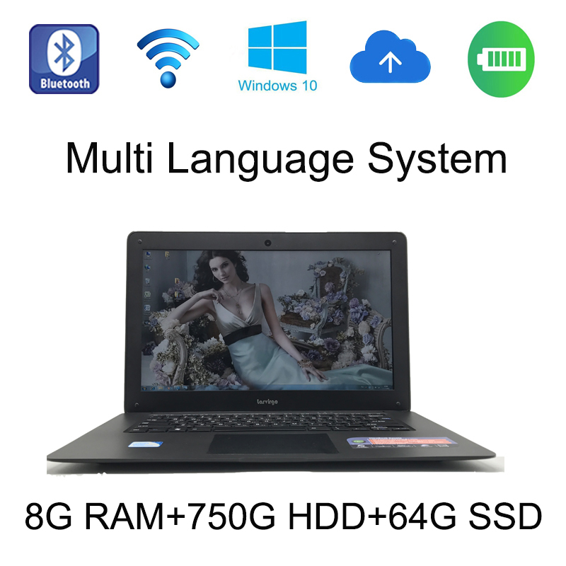 2017 windows 10 system 14 inch laptop notebook Intel Celeron J1900 2.0GHz 8G ram 750GB HDD and 64G SSD in camera for discount 2g ram 64g ssd 11 6 inch rotating and touching hd screen 2 in 1 windows 8 or 8 1 system laptop computer netbook for office