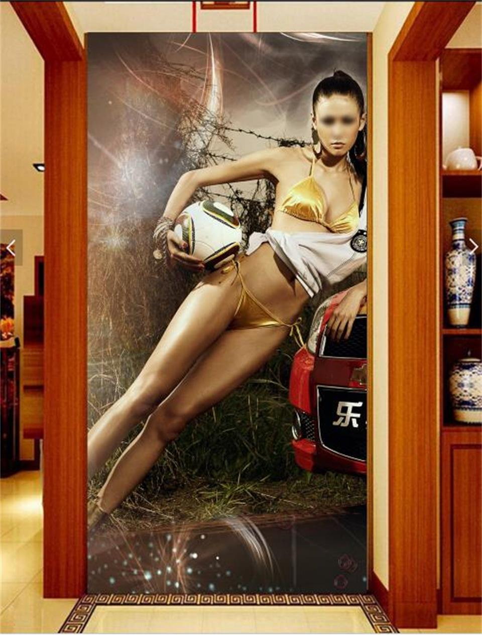 3d photo wallpaper custom mural porch living room Chinese beauty football baby 3d photo background wall non-woven wall sticker 3d room wallpaper custom mural non woven wall sticker 3 d scenery suspension bridge porch paintings photo wallpaper for walls 3d