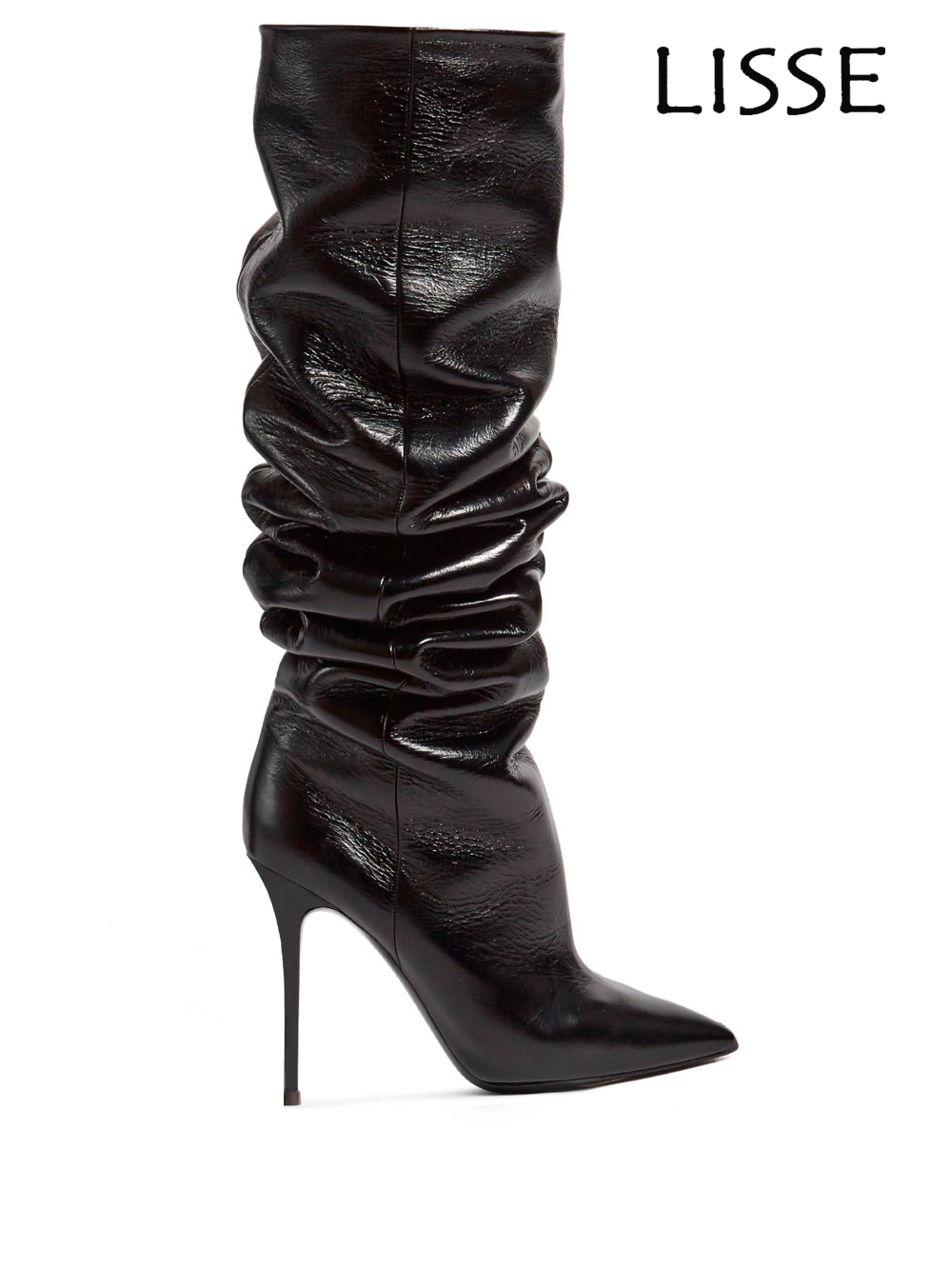 2018 New Fashion Women High Heel Pointed Toe Slouchy Knee High Boots Winter Dress Knee Boots 2016 new fashion winter knee high boots high quality personality knee high boots comfortable genuine leather boots