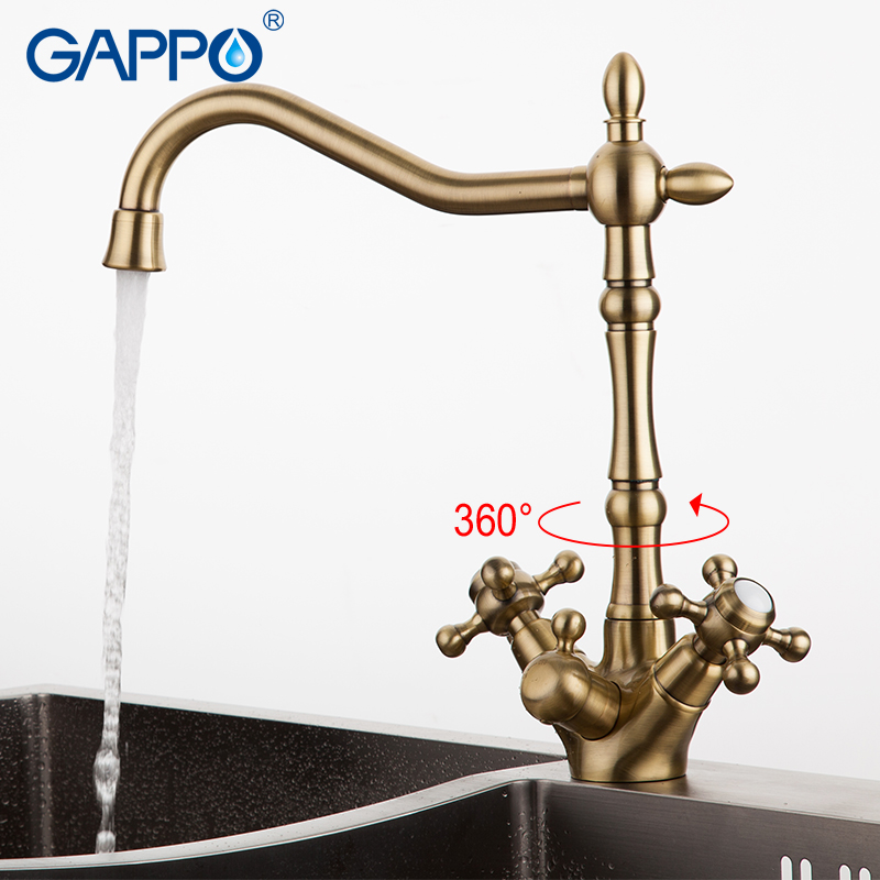 GAPPO kitchen water mixer tap Bronze kitchen sink faucet torneira 360 Brass kitchen Mixer drinking water saver tap GA4398-3 gappo waterfilter taps kitchen faucet mixer taps water faucet kitchen sink mixer bronze water tap sink torneira cozinha ga1052 8