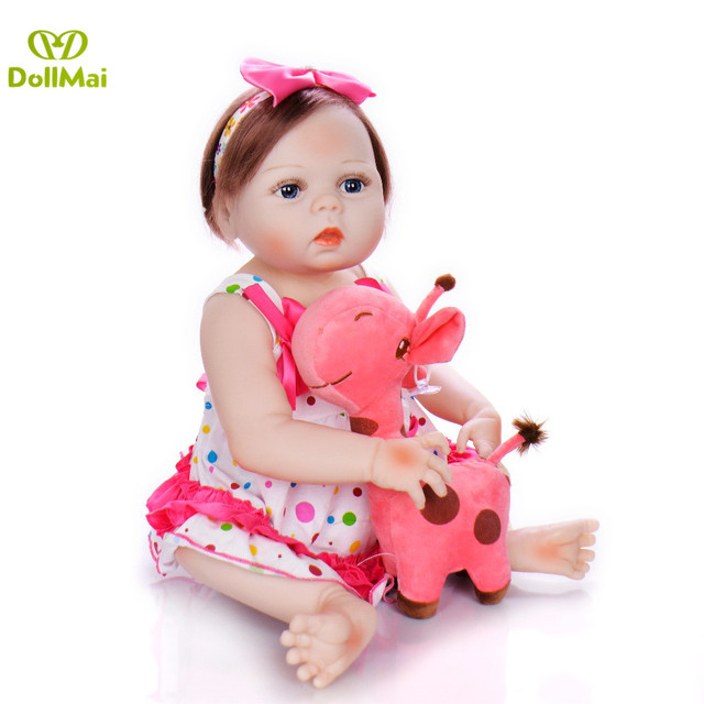 57 см полное тело силикона Reborn девушка Реалистичная кукла 23 дюймов новорожденный ручной работы принцесса куклы образовательный подарок игрушки