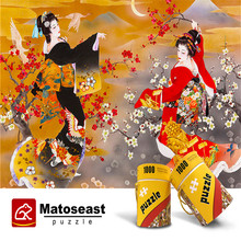 1000 Pieces Pure Wooden Puzzles for Adults Kimono паззл vintage puzzles