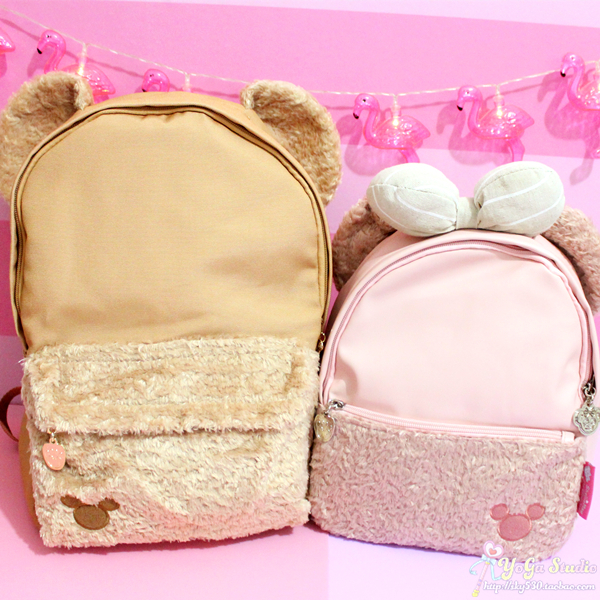 Duffy Bear Bag Cartoon Anime Shelliemay Bowknot Duffy Bear Plush Backpack School Shoulder Bag Children Schoolbag Girl Travel Bag