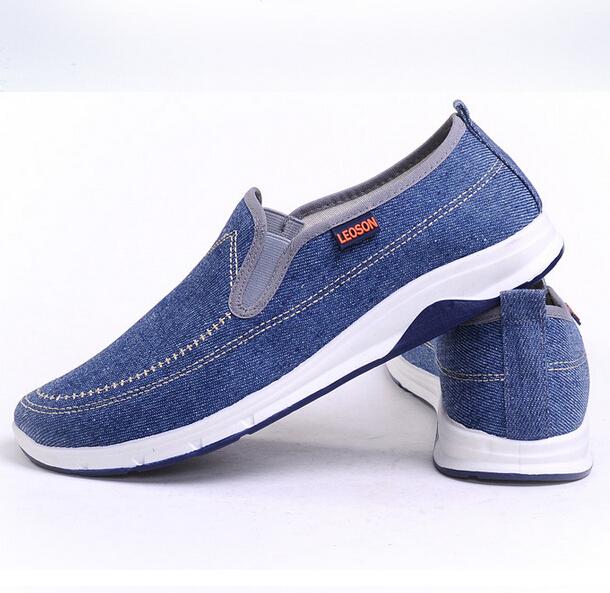Hot venda nova homens outono homem de lona Sapatos moda casual Sapatos confortáveis Sapatos Masculinos antiderrapante em azul