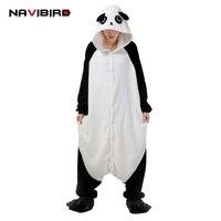 New Kigurums Panda Cosplay Pajamas Unisex Animal Onesies Romper Winter Sleepwear Jumpsuit Pyjamas