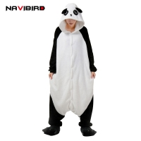 New Kigurums Panda Cosplay Pajamas Unisex Animal Onesies Romper Winter Sleepwear Jumpsuit Pyjamas