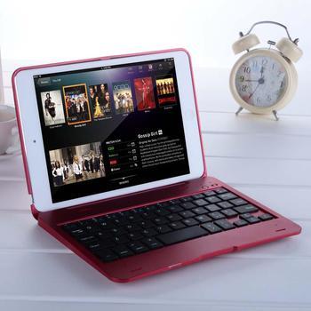 Składany bezprzewodowy zestaw słuchawkowy Bluetooth akumulator klawiatura skrzynki pokrywa dla iPad Mini 1/2/3, odporna na wstrząsy przypadki klawiatury pokrywa dla iPad 1/2/3