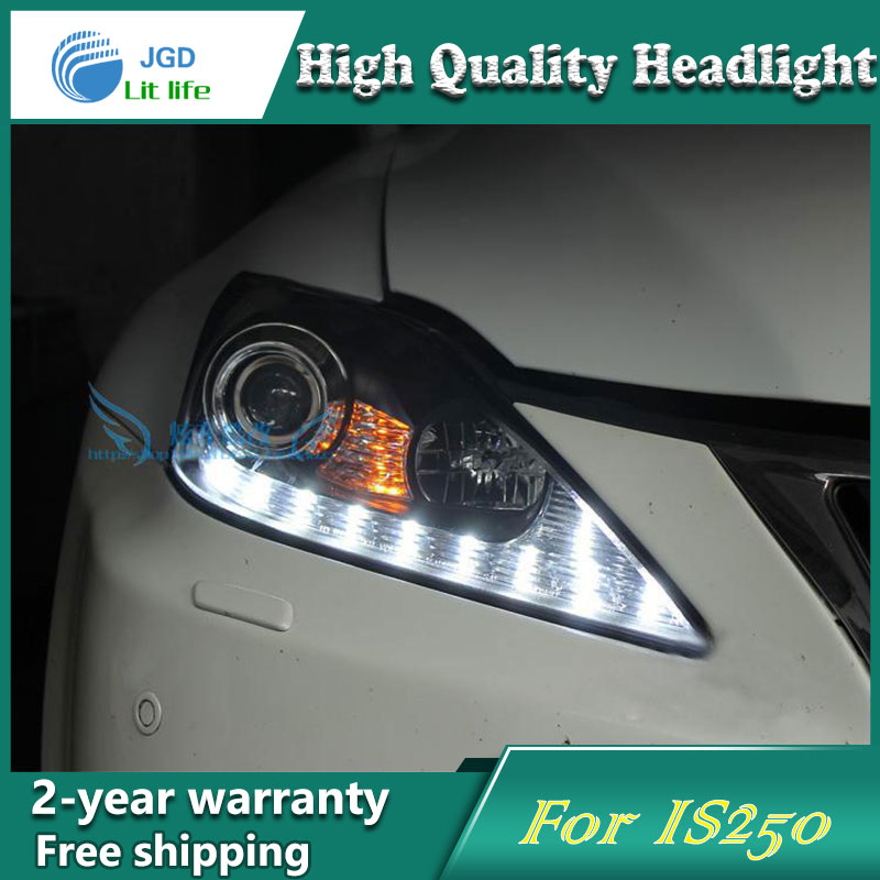 Car Styling Head Lamp case for Lexus IS250 IS300 Headlights LED Headlight DRL Lens Double Beam Bi-Xenon HID car Accessories hireno headlamp for 2016 hyundai elantra headlight assembly led drl angel lens double beam hid xenon 2pcs