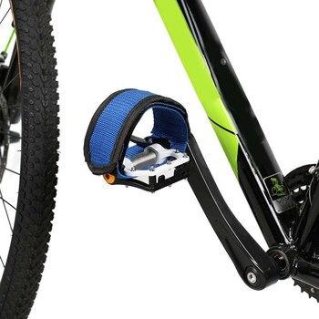 2 pçs/set Engrenagem Fixa Bicicleta Ciclismo Pedal Banda Cinto de Tampa de Segurança Da Bicicleta Anti-slip Pés Definir Com Alças feixe ALS88