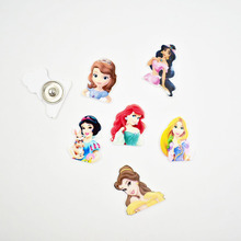 Planar Resin Charm Princess Snap Button For 18MM Jewelry Ginger Charms