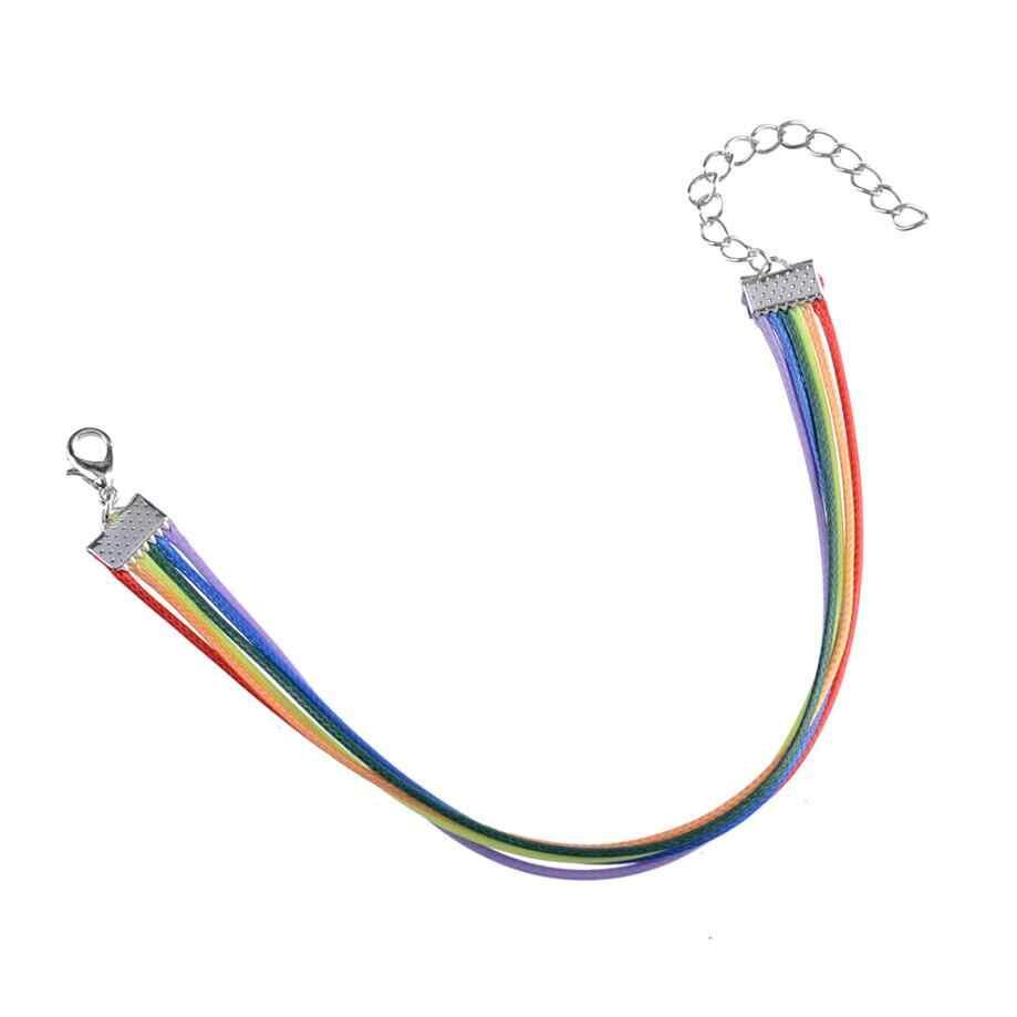 2 sztuk/partia moda PU skórzana bransoletka kobiety mężczyźni Gay Pride Rainbow Charms bransoletka prezent dla Gay miłośnik biżuterii para najlepsze prezenty