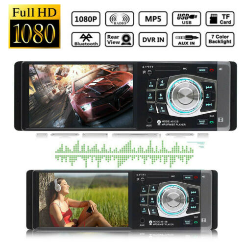 4.1 Inch TFT Screen Car MP5 Player Bluetooth Car Stereo FM Radio MP5 Video Player Bluetooth Remote+Camera MP3 Music Player 3D22