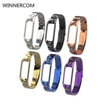 WINNERCOM Steel Wristband Band Replacement Men Women Fashion Strap For Xiaomi Mi 3
