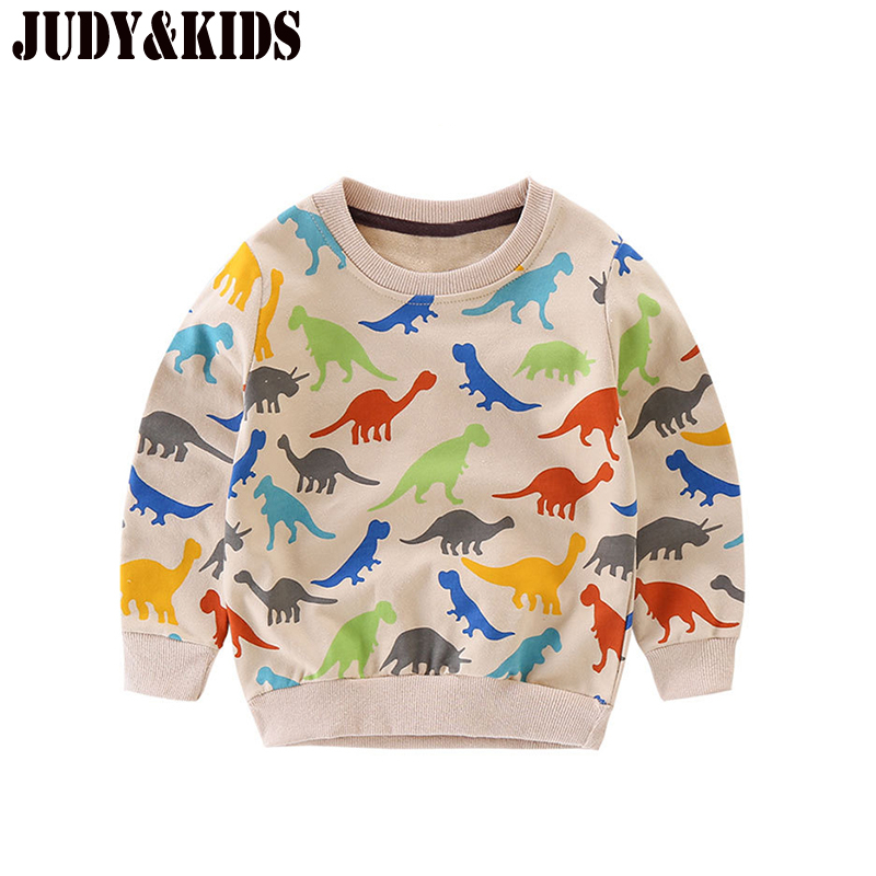 T-Shirts For Girls Boys Sweater New 2017 Dinosaurs Print Long Sleeve Kids Clothing Sweatshirt Baby Clothes Tops Tee For Children