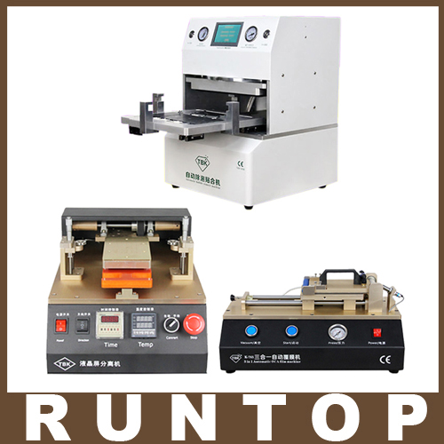 TBK LCD repair equipment OCA Vacuum Laminator Machine+3 in1 Automatic OCA Film Machine+Aluminum Alloy Automatic Separator strategic management of built facilities