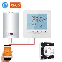 Tuya app semanal programável parede-montado caldeira de gás termostato sem fio wifi para ifttt alexa casa do google
