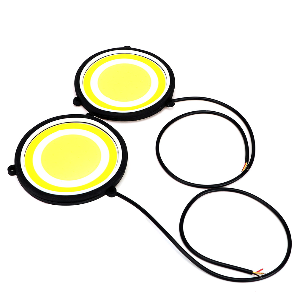ITimo COB LED Lamp Car Styling Universal Flexible Round Shape DRL External Lights A Pair Car Lights Daytime Running Light itimo 1 pair led car fog lamps cob car styling external lights dc 12v universal car drl daytime running lights super bright