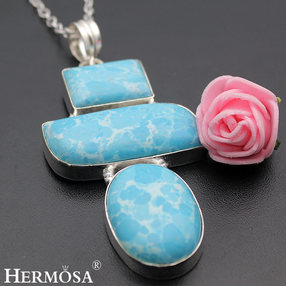 Hermosa Jewelry Unique Fashion 925 Sterling Silver Necklace Pendants 80MM HM304
