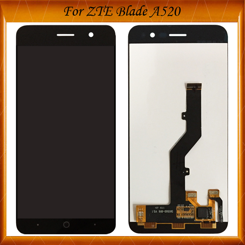 100% Working For <font><b>ZTE</b></font> <font><b>Blade</b></font> <font><b>A520</b></font> LCD Display+Touch <font><b>Screen</b></font> Digitizer Assembly Replacement For <font><b>ZTE</b></font> <font><b>A520</b></font> IN Stock image