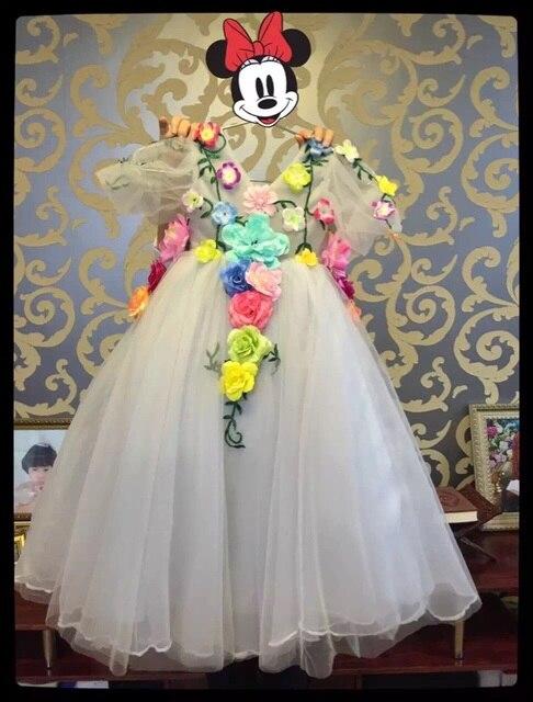 9a481aeec6c1 Flower Fairy little flower girls dresses for weddings Appliques Baby ...