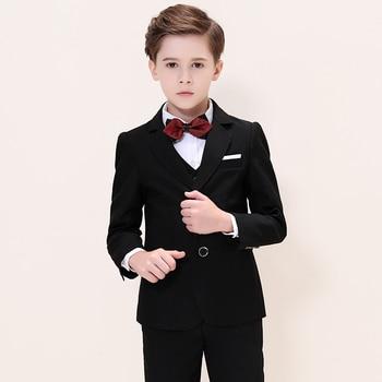 Boys Suits For Weddings Kids Blazer Suit For Boy Costume Enfant Garcon Mariage Jogging Garcon Blazer Boys British styleTuxedo L2 1