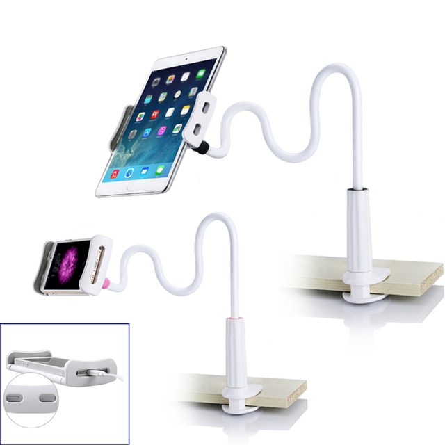brand new bec02 fde8a US $8.5 |Flexible Desktop Phone Tablet Stand Holder For iPad Mini Air  Samsung For Iphone 6s 3.5 10.5 inch Lazy Bed Tablet PC Stands Mount-in  Mobile ...