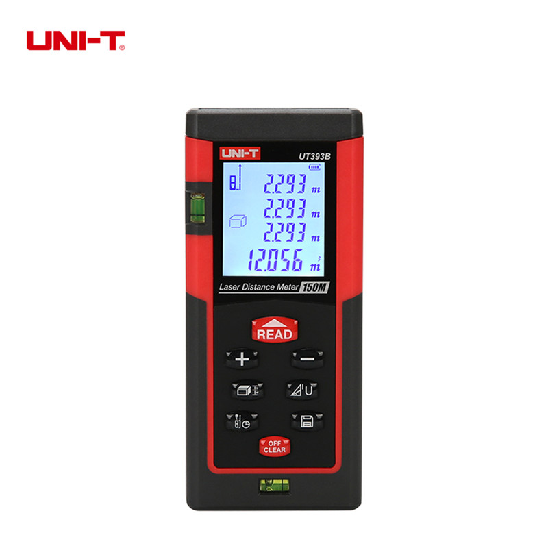 UNI-T UT393B 150M Laser Distance Meter Handheld Laser Range Finder Measure Area/volume Tool Continuous Measurement Rangefinder 0 05m 70m 230ft professional handheld laser range finder distance meter tester area volume pythagorean measure tecman tm70