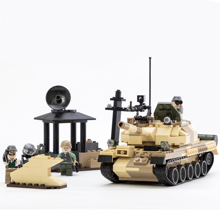 372pcs T-62 Tank MILITARY Soldier SWAT World War 2 Weapon Gun Army CS Building Blocks Bricks Educational Toy Children Boy Gift