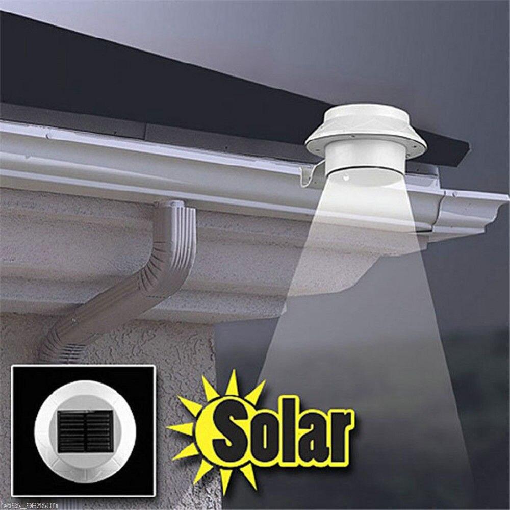 Солнечной энергии раковина лампы 3 светодиодный солнечной энергии света Открытый Сад Двор ограду Путь лампы водостоков света