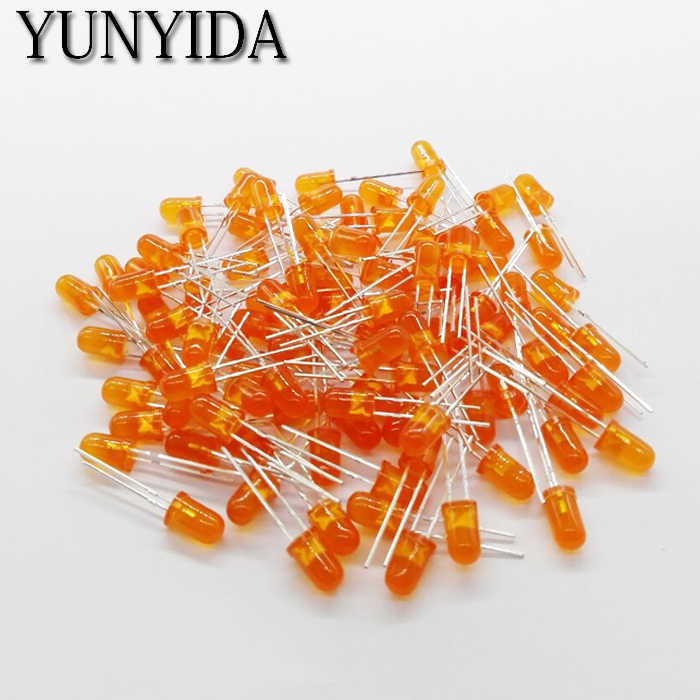 Orange 14-20 5mm LED diode électroluminescente orange 100 pièces/lot pieds de long 16-18mm