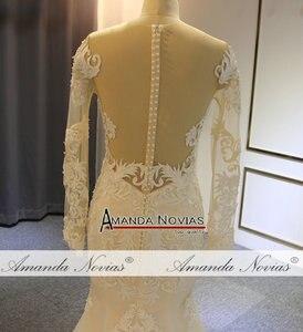 Image 4 - Nuovo modello sirena vestito con il treno staccabile abito da sposa