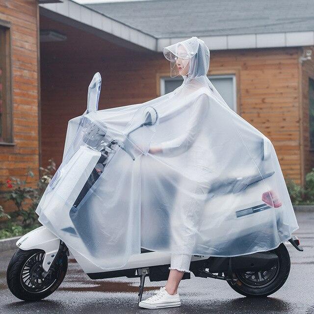 Manteau imperméable imperméable simple et Double   Vélo Transparent, Moto Chubasquero, Poncho de pluie, imperméable pour Moto