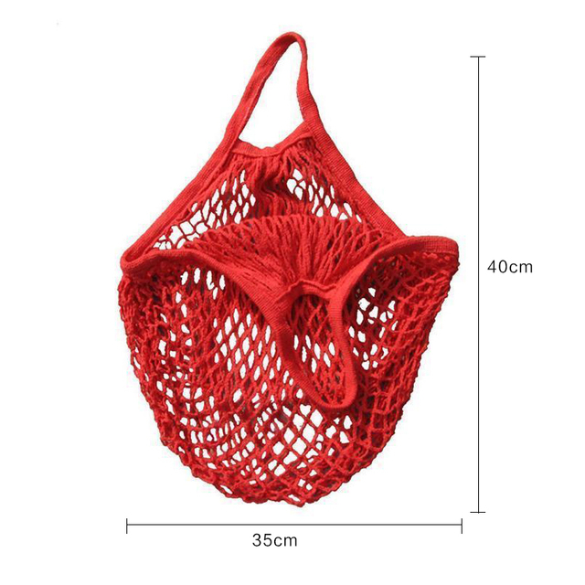 1PCS  Large Cotton Totes Shopping Bags foldable Mesh Net String Shopping Bag Reusable Shopping bags Fruit Storage Handbag