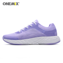 ONEMIX womens running shoes knit mesh breathable sports purple outdoor jogging shoes...