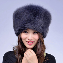 2017 горячий стиль женщины подлинная реального фокс меховые шапки для женщин зима толстые теплые дамы натуральный мех енота шляпа зимние шапки подарок