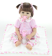 22″ 55cm Silicone Reborn Baby Doll Toy for Girl Lifelike Reborn Babies play house Toy Birthday Gift Girl Brinquedods