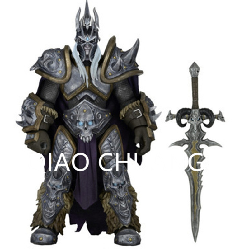Role Play Game TongFu Heroes of The Storm Lich King Arthas Menethil PVC Action Figure Model Toy G876