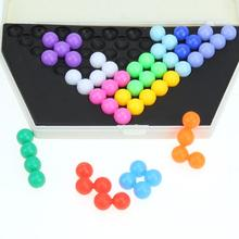 цены Classic Pyramid Beads Plate Puzzle Toy Children IQ Logical Mind Game Kids Early Educational Toys Brain Teaser Intelligence Gift